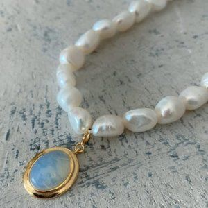 COMING SOON! 925 Sterling Silver Opal Necklace